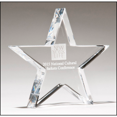 K9251   Crystal star paperweight